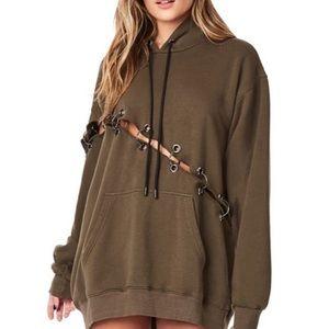 LF diagonal ring hoodie